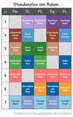 Rubens Stundenplan (Überarbeitet