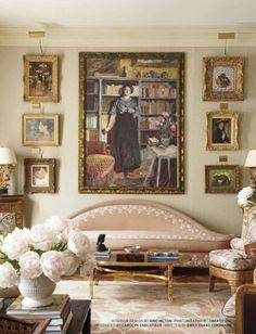love the serpentine shaped sofa with the art--DESIGN ON PARK AVENUE