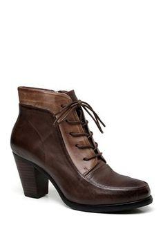 Leonie Low Heel Leather Boots