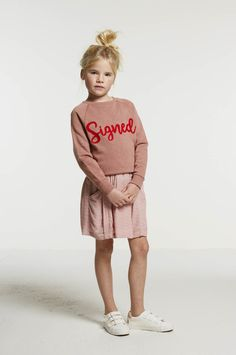 girls bonne signed sweater - ash rose - Girls | BY-BAR - New Collection Spring/Summer 2018