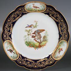 セーブル 飾り皿鳥たちのデュプレシスK04陶磁器 フランス SEVRES