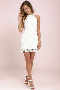 Love Poem Ivory Lace Dress at Lulus.com!