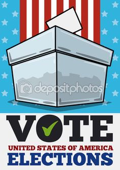 Translucent Ballot Box in American Elections Day