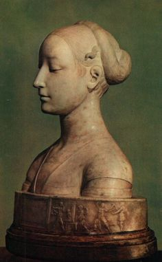 Beatrice of Aragon (1471-74) by sculptor Francesco Laurana.  Her features are sublime.
