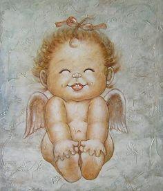 Angel Oil Painting   Handmade Oil Painting--Angel