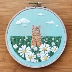 Have a look at this brilliant Embroidery - what an inspired concept Dmc Embroidery Floss, Modern Embroidery, Embroidery Hoop Art, Hand Embroidery Patterns, Cross Stitch Embroidery, Simple Embroidery, Diy Embroidery Designs, Embroidery Sampler, Couture Embroidery