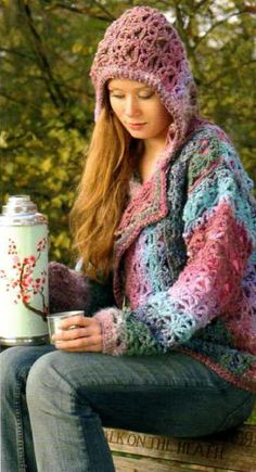 PATTERN for Crochet Jacket with Hood