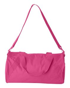 Hot Pink Recycled Small Duffle Gym Bag Thoughtful Christmas Gifts 056c974a82331