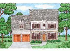 Four Bedroom Colonial Home (HWBDO68969) | Colonial House Plan from BuilderHousePlans.com