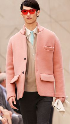 Painterly tones inspire the Burberry Prorsum S/S14 show