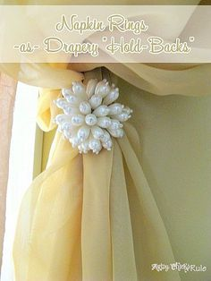 DIY:: Napkin Ring Charming Drapery Tie