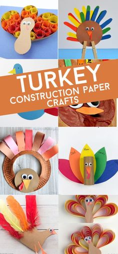 Easy and fun construction paper turkeys. A great Thanksgiving craft for kids. #twitchetts #thanksgiving #constructionpaper Kindergarten Thanksgiving Crafts, Thanksgiving Crafts For Toddlers, Easy Fall Crafts, Simple Crafts, Animal Crafts For Kids, Paper Crafts For Kids, Crafts For Kids To Make, Kid Crafts, Craft Projects