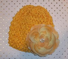 Childrens Infant Sunflower Yellow Waffle Hat with by LambyDoo, $3.25