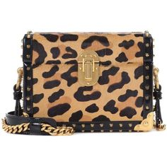 Prada Micro Box Leopard-Printed Shoulder Bag ($3,845) ❤ liked on Polyvore featuring bags, handbags, shoulder bags, multicoloured, prada shoulder bag, prada purses, multi color purse, leopard print handbags and leopard handbag