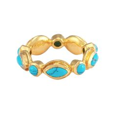 Gwyneth Ring Gold Turquoise