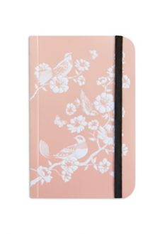 Cristina Re A6 Mini Chinoiserie Birds Luxury Journal. My floral illustration (the birds and butterflies illustration, and overall product design are not my work)