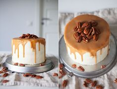 Saftig Morotstårta med Limefrosting, Kolasås & Pecannötter