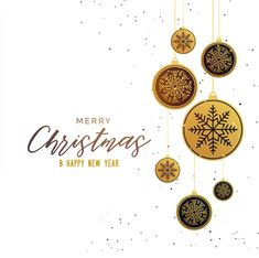 premium golden christmas balls seasonal greeting background
