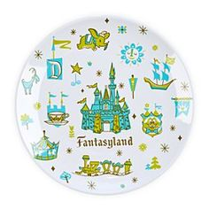 Disney Fantasyland Plate - 7'' | Disney StoreFantasyland Plate - 7'' - Walt Disney said, ''Fantasyland is dedicated to the young at heart and to those who believe that when you wish upon a star, your dreams come true.'' This happy spirit ever shines in our Fantasyland plate with vintage icons from classic park maps.