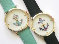 floral tiny anchor Watch