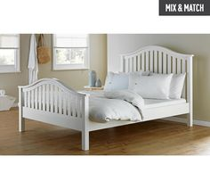 Buy Collection Newbridge Kingsize Bed Frame - White at Argos.co.uk, visit Argos.co.uk to shop online for Bed frames, Beds, Bedroom furniture, Home and garden