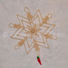 FREE PATTERN ~ Red Hot Right the First Time Snowflake
