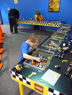 Racing Cars at the Lego Store Lego Decorations, Lego Store, Lego Building, Poker Table, Race Cars, Racing, Party, Furniture, Home Decor