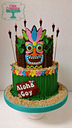 27 Amazing Picture of Hawaiian Birthday Cake Hawaiian Birthday Cake Hawaiian Cake Hawaiian Cakes Luau Pinte Hawaii Birthday Cake, Twin Birthday Cakes, Hawaiian Birthday, Themed Birthday Cakes, Themed Cakes, Aloha Cake, Hawaiian Luau, 30th Birthday, Hawaiin Cake