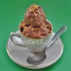 Helado de Nutella o nocilla Make Ice Cream, Homemade Ice Cream, Nutella, Oatmeal, Food And Drink, Breakfast, Tableware, Desserts, Keto