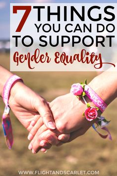 Love this guide for how to support gender equality! I don't have time to…
