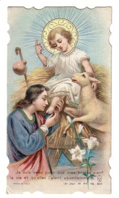 Holy Card Antique made in Italy Priere au Saint Enfant Jesus