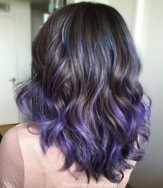 87 unique ombre hair color ideas to rock in 2018 - Hairstyles Trends Hair Color Purple, Hair Dye Colors, Cool Hair Color, Green Hair, Purple Hair Streaks, Purple Tips, Color Streaks, Violet Hair, Blonde Color