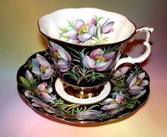 "Royal Albert ""Prairie Crocus"" Cup Saucer   eBay"