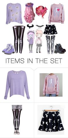 """Pastel Girls"" by darkandfallenangel ❤ liked on Polyvore featuring art"