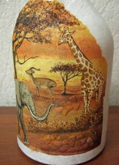 Decoupage bottles in the African style, crafts fromshells, how to make a mosaic of the shell with their own hands, a mosaic made of eggshell on a glass bottle, a detailed master class on decorating bottles in African style . Glass Bottle Crafts, Wine Bottle Art, Painted Wine Bottles, Decoupage Glass, Decoupage Art, Eggshell Mosaic, Egg Shell Art, Wine Bottle Centerpieces, Fairy Jars