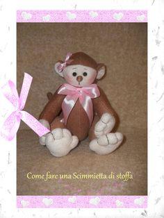 Come creare una simpatica scimmietta di stoffa gratis - How to create a nice little monkey of cloth for free.
