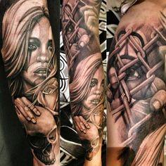 Sick tattoo by Antonio Macko Todisco at MACKO TATTOO . Italian Tattoo Scene. #tattoo #tatoos #ink