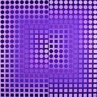 Zoeld I. violetviolet by Victor Vasarely