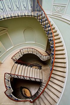 Beautiful staircase in Somerset House, London