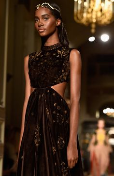 A model walks the runway during the Valentino Spring Summer 2016 show as part of…