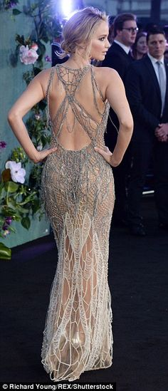 Striking: Jennifer Lawrence put on a display befitting her undeniable status as one of Hollywood¿s most glamorous actresses as she attended the UK premiere of new film Mother! on Wednesday evening