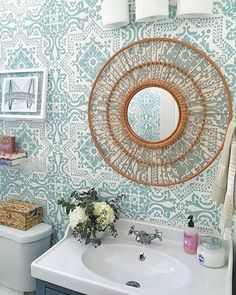 This #ORC #OneRoomChallenge is wrapping up and we are THRILLED to see how everyone's stenciled room makeovers turned out! Check out @paigegwhalen's using our Lisboa Tile Wall Stencil  #royaldesignstudio
