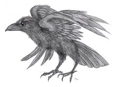 "Raven tattoo idea by ~LynxGriffin on deviantART - with the quote from Roac the Raven in the Hobbit: "" Treasure is likely to be your death, though the dragon is no more"" - This has a lot of significance for me since Ravens represent providence, and I am called to a very money-hungry area..."