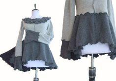 Peplum+Sweater+S/M+Small+Medium+Recycled+Eco+by+RebeccasArtCloset