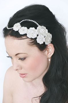 My Sweet Daisy bridal hair piece  Versatile by SoBridelicious, $120.00