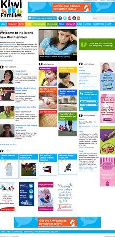 Blog design: Kiwi Families in Wordpress