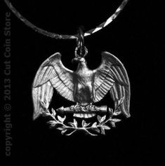 USA US Patriotic American Eagle Necklace Washington Quarter Cut Coin Jewelry - Coin Jewelry - Ideas of Coin Jewelry - USA US Patriotic American Eagle Necklace Washington Quarter Cut Coin Jewelry Price : Diy Jewelry Rings, Coin Jewelry, Black Jewelry, Metal Jewelry, Pendant Jewelry, Jewelry Necklaces, Jewelry Ideas, Coin Necklace, Jewelry Art