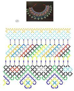 Дыхание Бисера's photos Beading Patterns Free, Bead Loom Patterns, Beading Tutorials, Diy Necklace Patterns, Beaded Jewelry Patterns, African Beads Necklace, Brick Stitch Earrings, Bead Jewellery, Handmade Beads