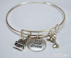 Magic Kingdom Live Your Dream Bangle Bracelet by LifeistheBubbles