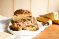 This banana bread is probably healthier than your usual go-to as it has parsnips in it.